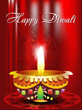 Abstract diwali background with floral Stock Image