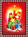 Abstract diwali background with gifts Stock Image