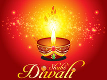 Abstract diwali background with sparkle Stock Images