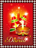 Abstract diwali background with sparkle Royalty Free Stock Photo