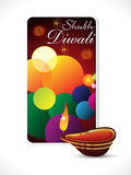Abstract diwali background template. Vector illustration Stock Photography