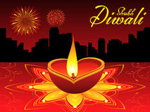 Abstract diwali background. Vector illustration