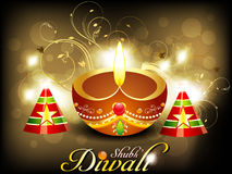 Abstract diwali card with cracker Royalty Free Stock Photo