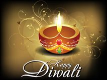 Abstract diwali card with floral Stock Photo
