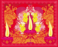 Abstract diwali celebration background Stock Photography