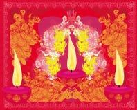Abstract diwali celebration background. Illustration Stock Photography