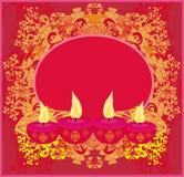 Abstract diwali celebration background. Illustration Royalty Free Stock Photo