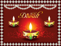 Abstract diwali concept with deepak. Vector illustration