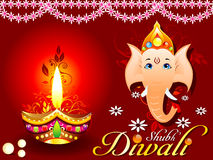 Abstract diwali concept with ganesh Royalty Free Stock Image