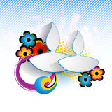Abstract diwali design stock illustration