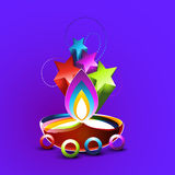 Abstract diwali design Stock Images