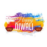 Abstract diwali gestival background with colorful grunge. Vector royalty free illustration