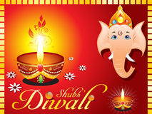 Abstract diwali greeting card with ganesh ji Royalty Free Stock Photos