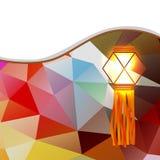 Abstract diwali lamp Royalty Free Stock Image
