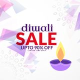 Abstract diwali sale background design with diya Stock Images