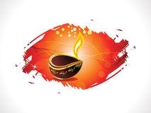 Abstract diwali template. Illustration Stock Photo