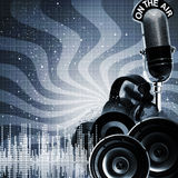 Abstract DJ Backgrounds Stock Photo