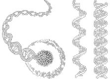 Abstract DNA. Chains, vector illustration Royalty Free Stock Photos