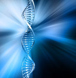Abstract DNA. 3D render of DNA strands on abstract background Royalty Free Stock Image
