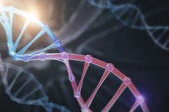 Abstract DNA background. Science and innovation concept. 3D Rendering Royalty Free Stock Photography
