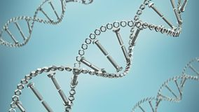 Abstract dna contains stack of bolts and nuts stock video footage