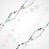 Abstract DNA, futuristic molecule Stock Photo