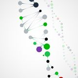 Abstract DNA, futuristic molecule Stock Images