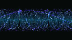 Abstract DNA Particle Chain stock video footage