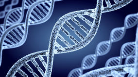 Abstract DNA spiral Stock Photo