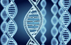 Abstract DNA spiral Stock Image