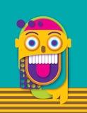 Abstract document menselijk gek het glimlachen gezicht Kleurrijke geometrische vorm stock illustratie