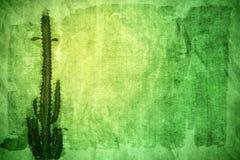 Abstract document met cactus Stock Fotografie