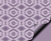 Abstract document met paginakrul in zachte Sering met het patroon van de diamantster Stock Foto