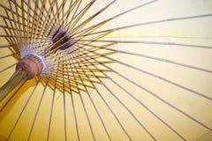 Abstract Document paraplu en van het paraplubamboe kader Royalty-vrije Stock Afbeelding