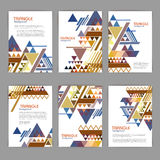Abstract document template  with triangle Royalty Free Stock Images