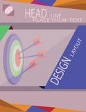 Abstract doel met pijlen voor infographic, malplaatje voor de grafiekpresentatie van het cyclusdiagram stock illustratie