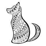 Abstract dog black white pattern illustration Royalty Free Stock Images