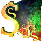Abstract dollar Royalty Free Stock Photo
