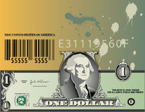 Abstract Dollar Bill  Stock Image