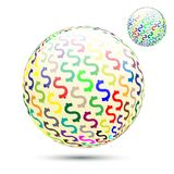 Abstract dollar money symbolize ball. Abstract dollar money symbolize ball on vector graphic art stock illustration