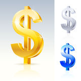 Abstract dollar sign Royalty Free Stock Images