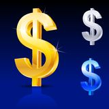 Abstract dollar sign Royalty Free Stock Image