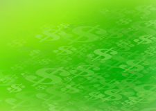 Abstract Dollar Sign Background Graphic. Abstract US Dollar Sign Green Background. Perfect for all types of financial communication arts Royalty Free Stock Photo