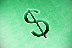 Dollar sign abstract background royalty free stock image