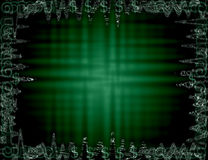 Abstract Dollars. Abstract green background with dollar signs Stock Photo
