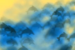 Abstract dolphin background Royalty Free Stock Photography