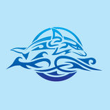 Abstract Dolphin Emblem Royalty Free Stock Photos