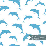 Abstract dolphin pattern Royalty Free Stock Photo
