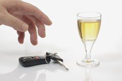 Abstract don't drink and drive Stock Images