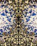 Abstract donker gouden blauw wit bokehbehang Stock Foto's